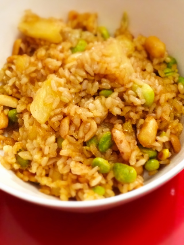 baked fried rice
