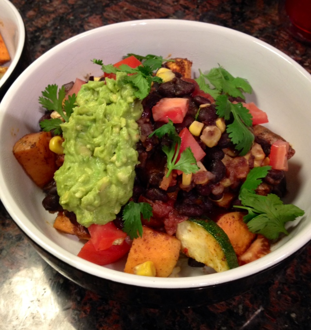 Roasted Sweet Potato Burrito Bowl