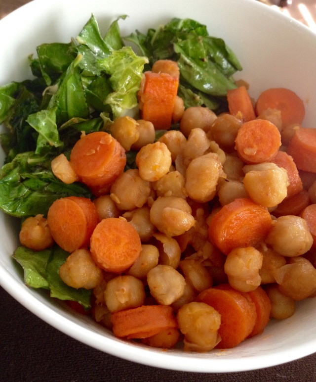 Sweet and Spicy Carrots and Chickpeas